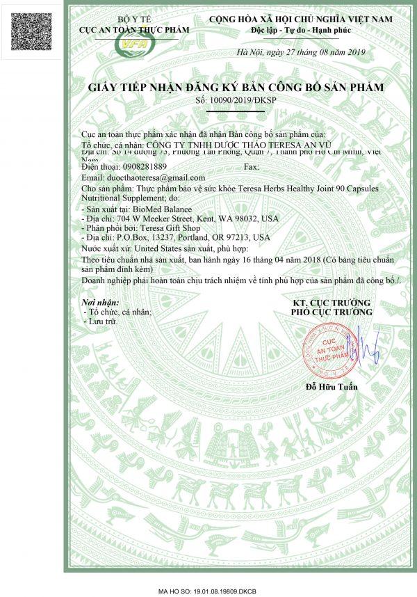 giấy phép HEALTHY JOINT (1)