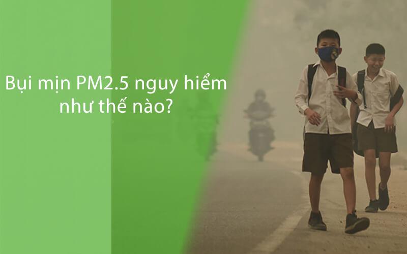 Bụi mịn PM2.5 nguy hiểm ra sao?